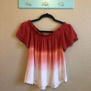 Xhilaration Color Gradient Top